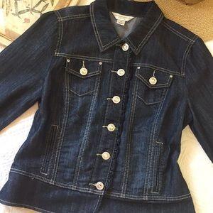 Christopher & Banks Embellished Denim Jacket